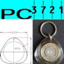 100 Blank Round Cross Stitch Clear Plastic Keyrings 33 mm Diameter Insert H1619